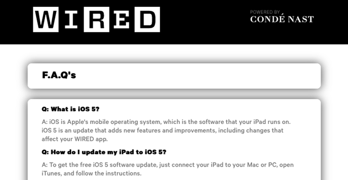 A frustrating experience with the WIRED Magazine app for iPad – Matt ...